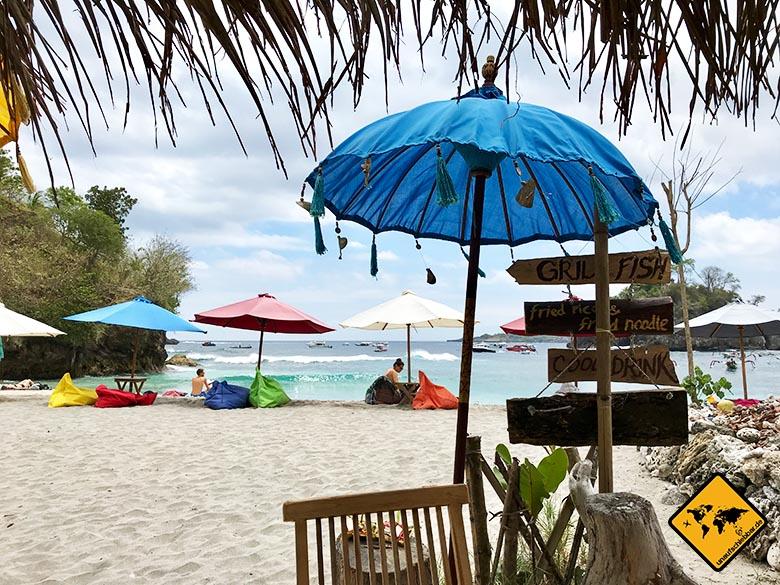 Nusa Penida Strände Crystal Bay Warung