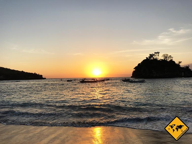 Nusa Penida Strand Crystal Bay Sonnenuntergang