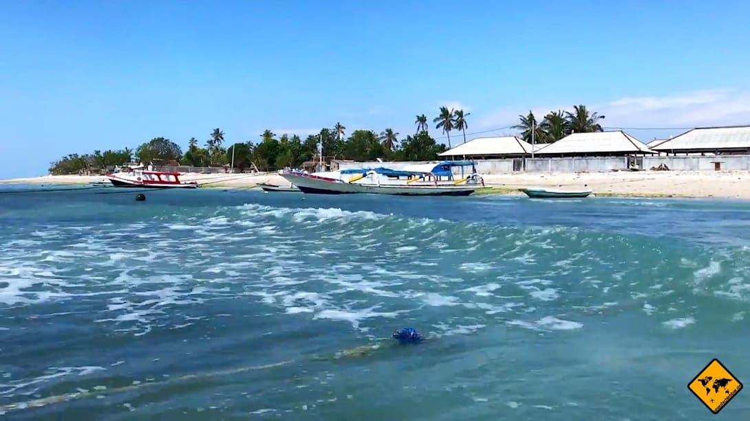 Wenn du an einem der Häfen auf Nusa Penida eintriffst, findest du dort immer eine Transportmöglichkeit