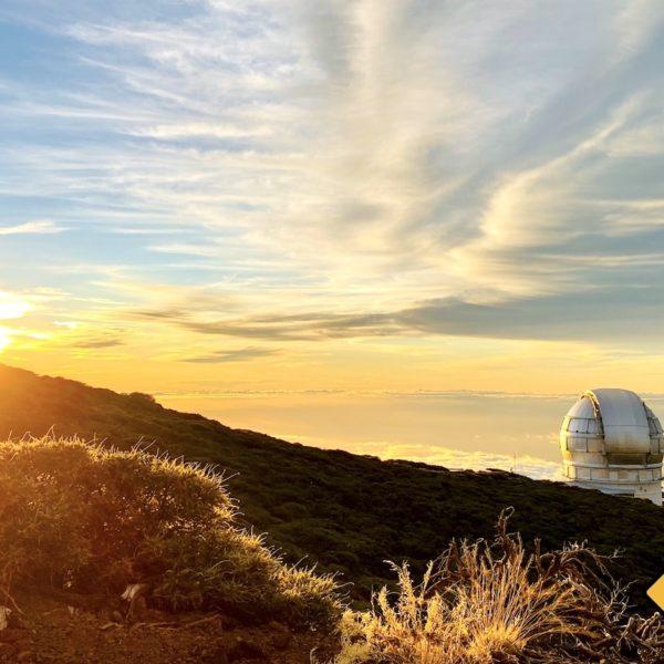 Observatorium Teleskop La Palma Sonnenuntergang