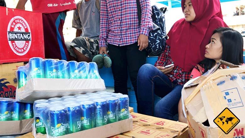 Öffentliches Boot Gili Air Lombok