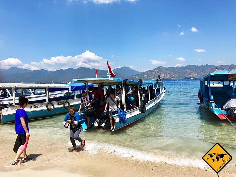 Öffentliches Boot Gili Air