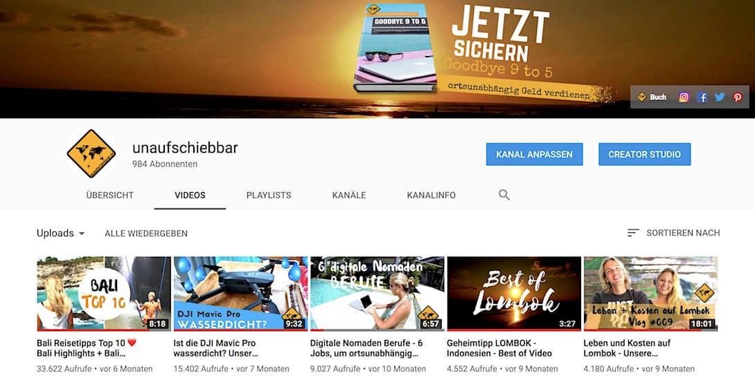 Um über YouTube ein eigenes Online Business aufbauen zu können, benötigst du viel Content und Ausdauer