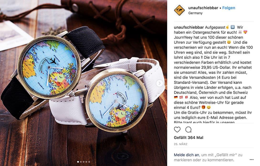 Deine Social Media Kanäle wie z.B. Instagram kannst du nutzen, um Produktempfehlungen oder Geschenke an deine Follower weiterzugeben