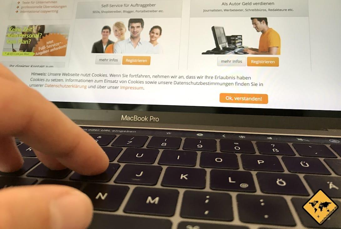 Wenn du dein eigenes Online Business starten möchtest, kannst du auch Texte für andere schreiben. Hierzu eignet sich z.B. die Plattform content.de
