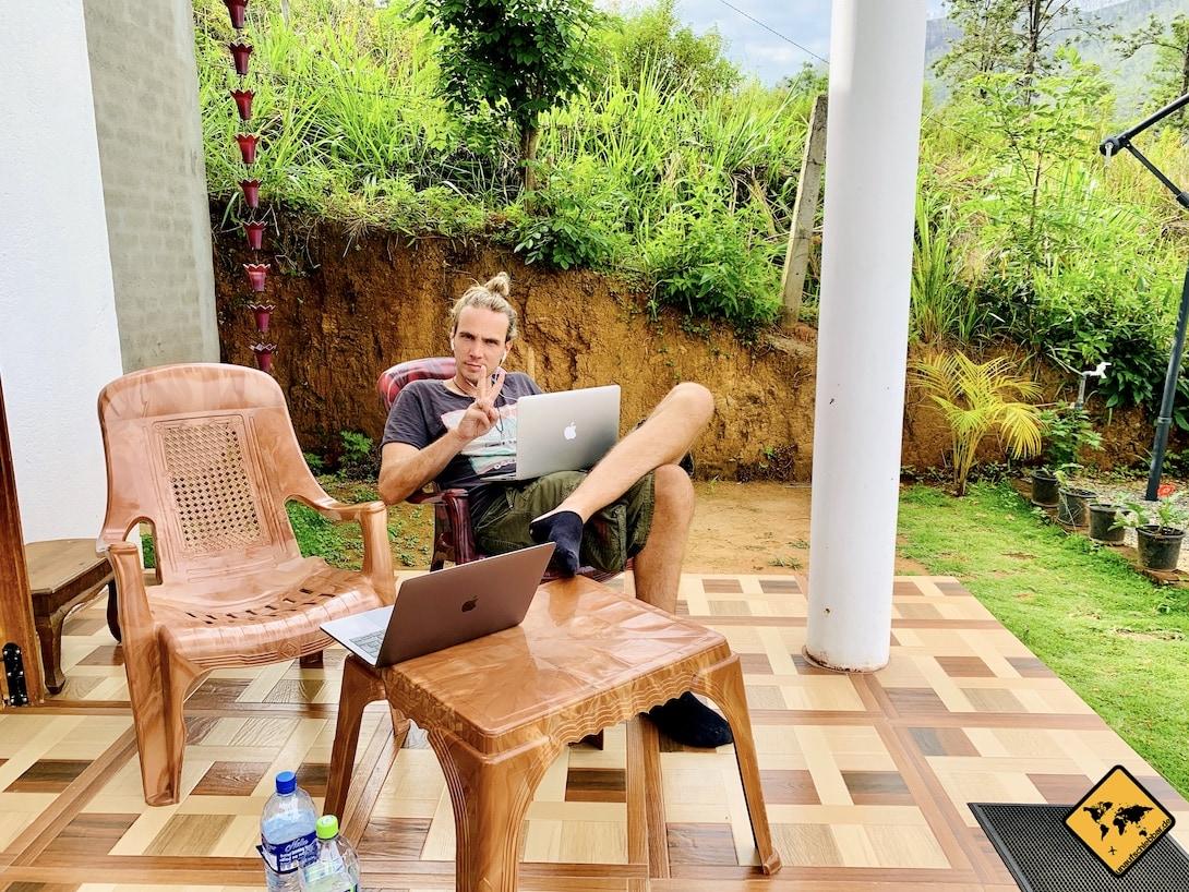 Online Jobs von zuhause und unterwegs Blogger Sri Lanka