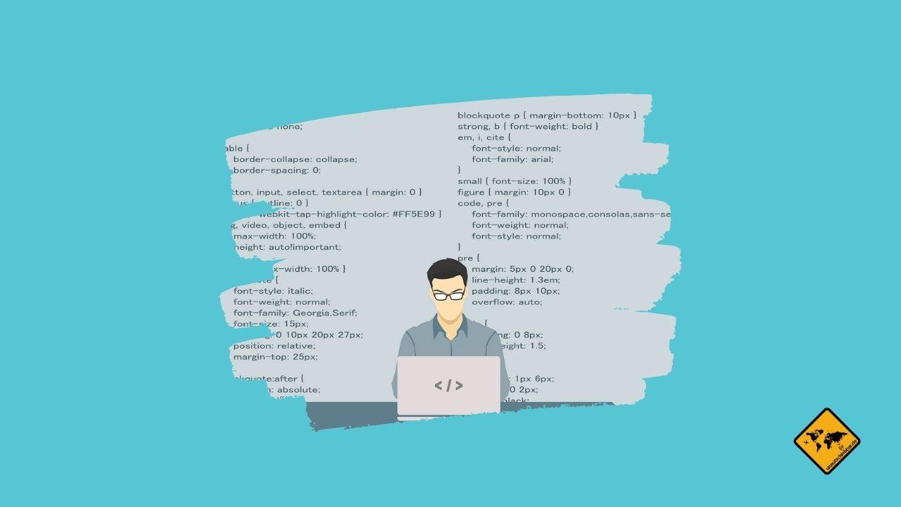 Online arbeiten Programmierer Code