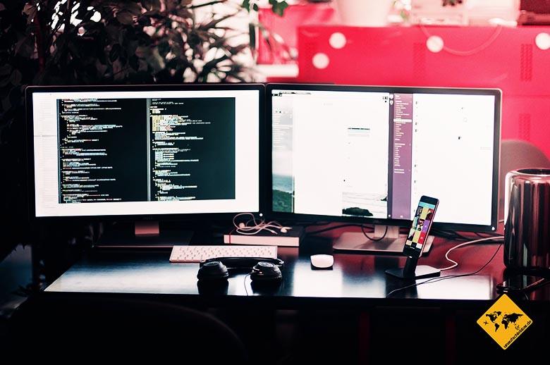 Ortsunabhängig arbeiten Jobs Programmierer Entwickler