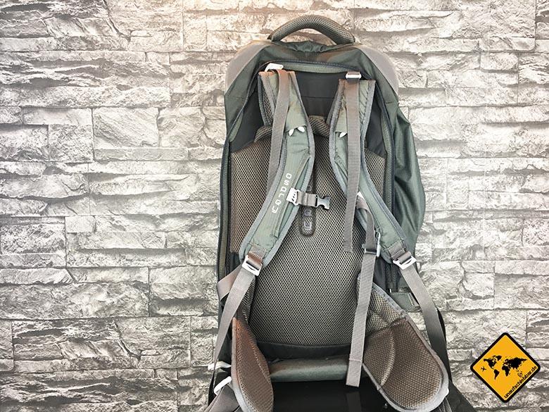 Osprey Farpoint 55 Rücken
