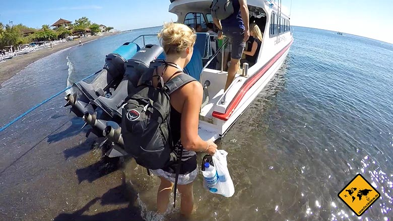 Osprey Farpoint 55 Test Backpacker Tagesrucksack Boot Bali