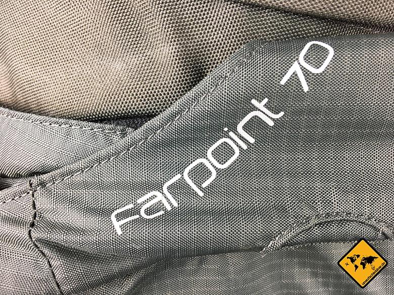 Osprey Farpoint 70 Test Logo