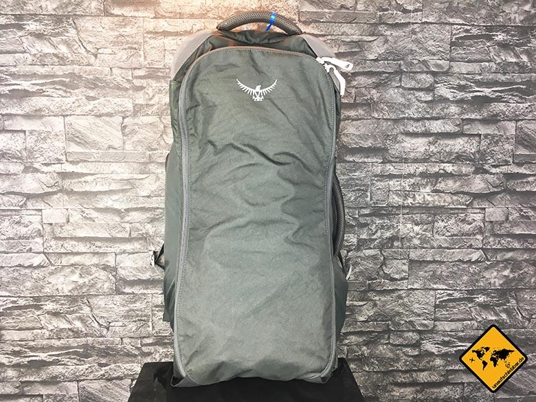 Osprey Farpoint 70 Test Reisetasche geschlossen