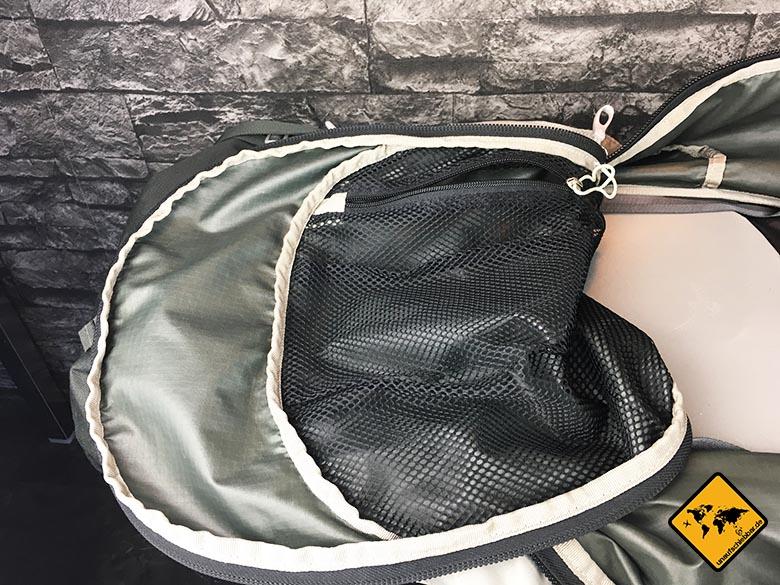 Osprey Farpoint 70 Test verschließbarer Deckel