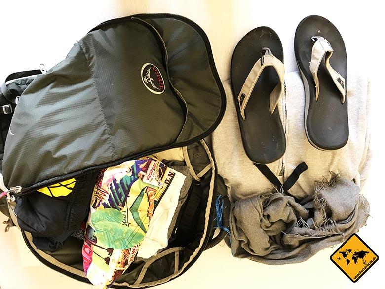 Packliste Bali Rucksack