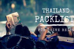 Packliste Thailand Urlaub: für Frauen, Männer & Backpacker   mit PDF