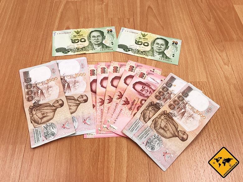 Packliste Thailand Backpacker Währung Geld