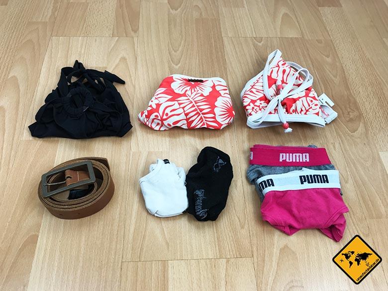 Packliste Thailand Frau Bikini Unterwäsche
