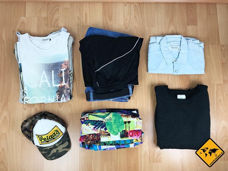 Packliste Thailand Mann Kleidung