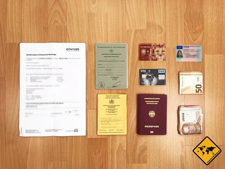 Packliste Thailand Papiere Unterlagen