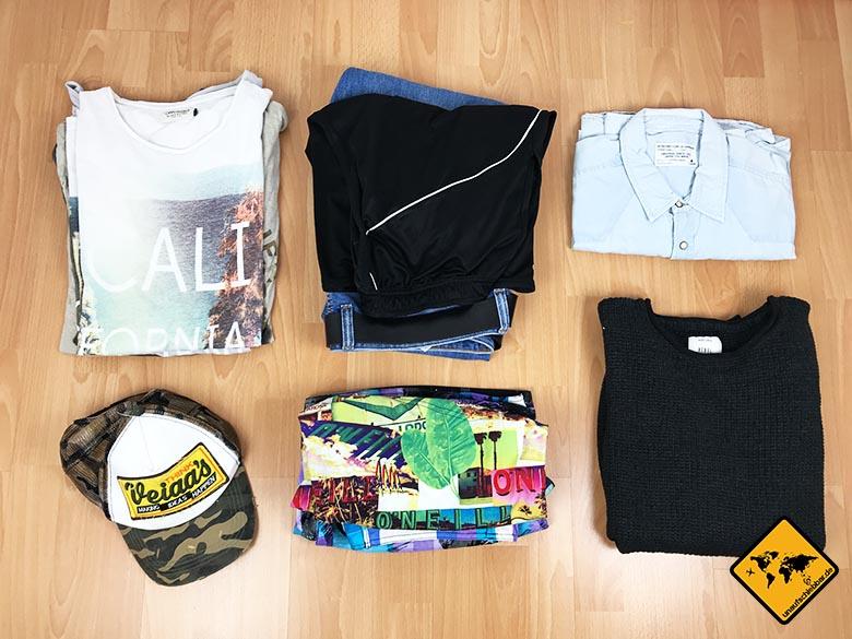 Packliste Urlaub Kleidung Mann