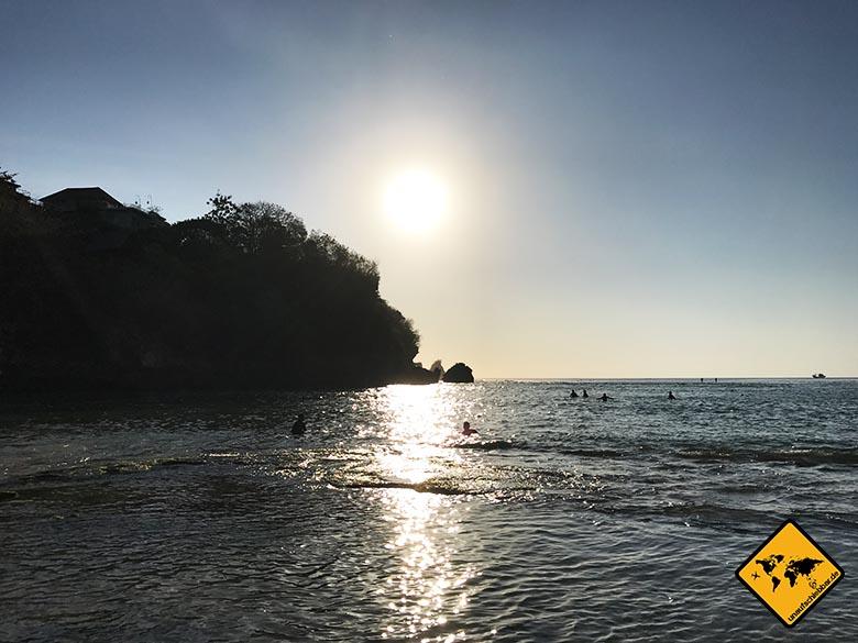 Padang Padang Beach Bali Sonnenuntergang