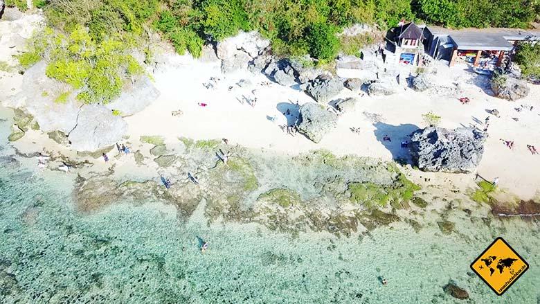 Padang Padang Beach Bali Strand oben