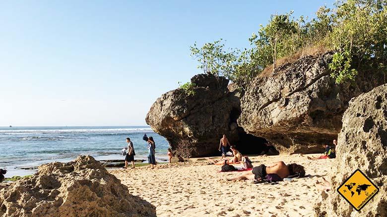 Padang Padang Beach Bali hinterer Abschnitt