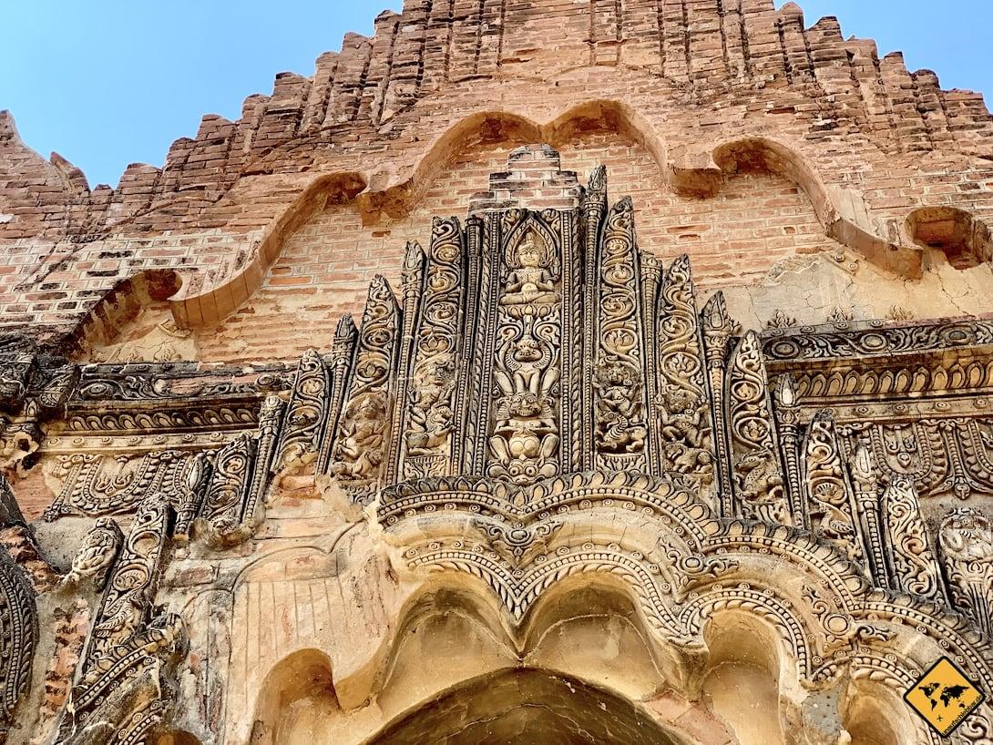 Pagode Fassade Narathihapatae Hpaya Tempel Bagan