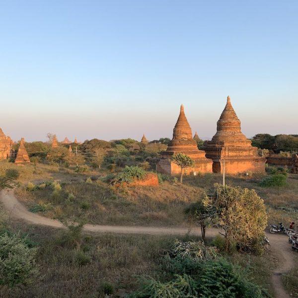 Pagoden Abendlicht Bagan