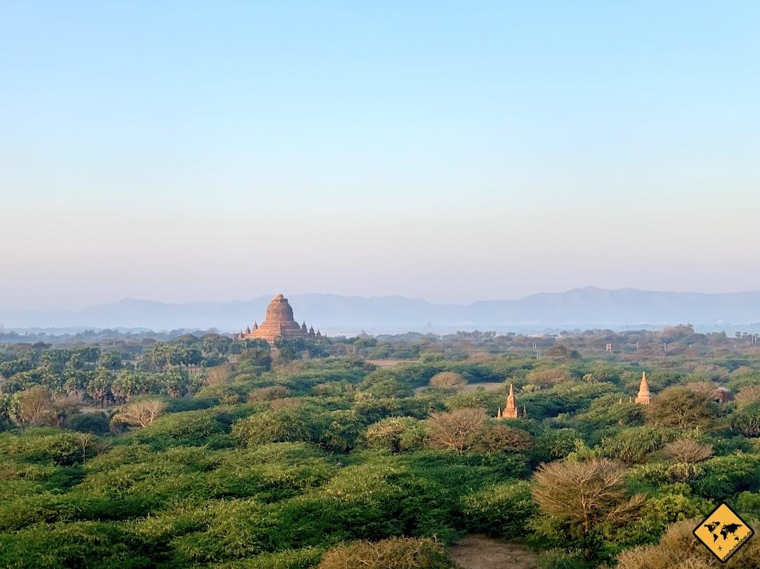 Pagoden Luftaufnahme Ballon Bagan
