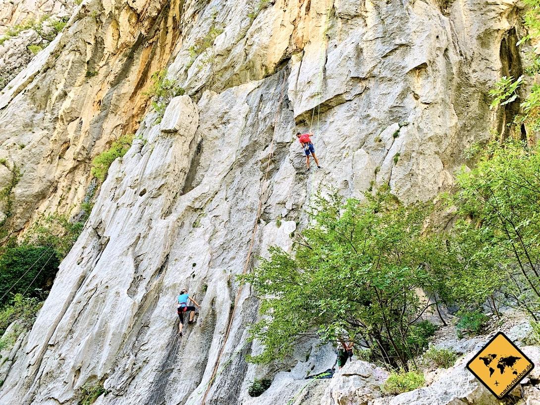 Paklenica Nationalpark Kroatien Klettern