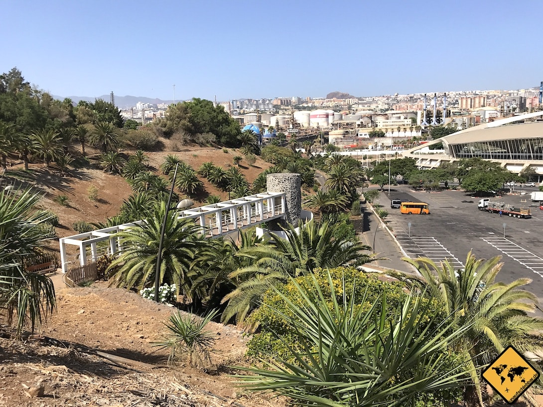 Palmetum Santa Cruz Eingang Parkplatz