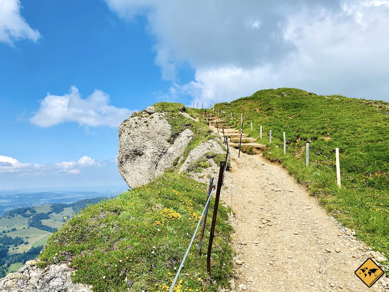 Panoramaweg zum Gipfel