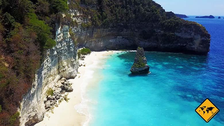 Pantai Suwehan Nusa Penida türkises Wasser