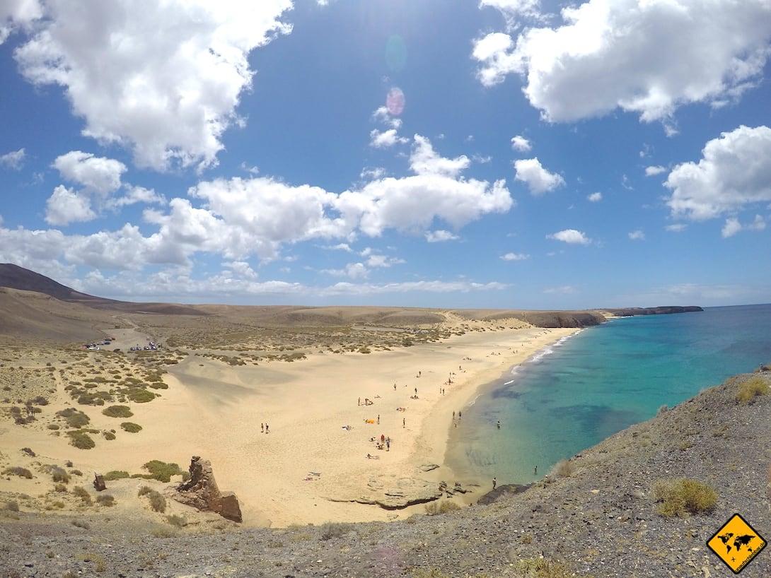 Papagayo Strände Lanzarote Playa Mujeres