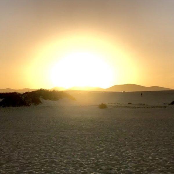 Parque Natural de Corralejo Dünen Sonnenuntergang