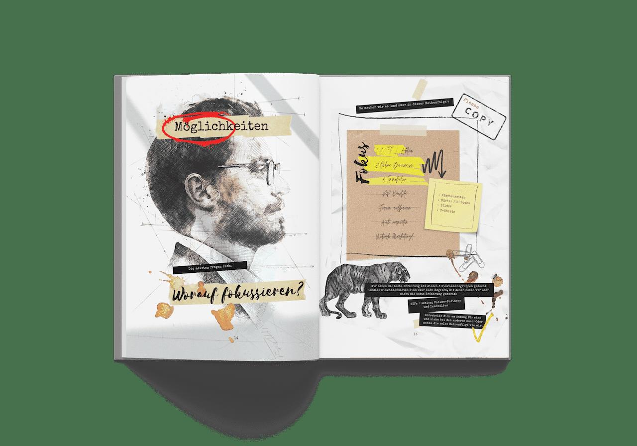 Passives Einkommen aufbauen Hardcover Buch Möglichkeiten Fokus