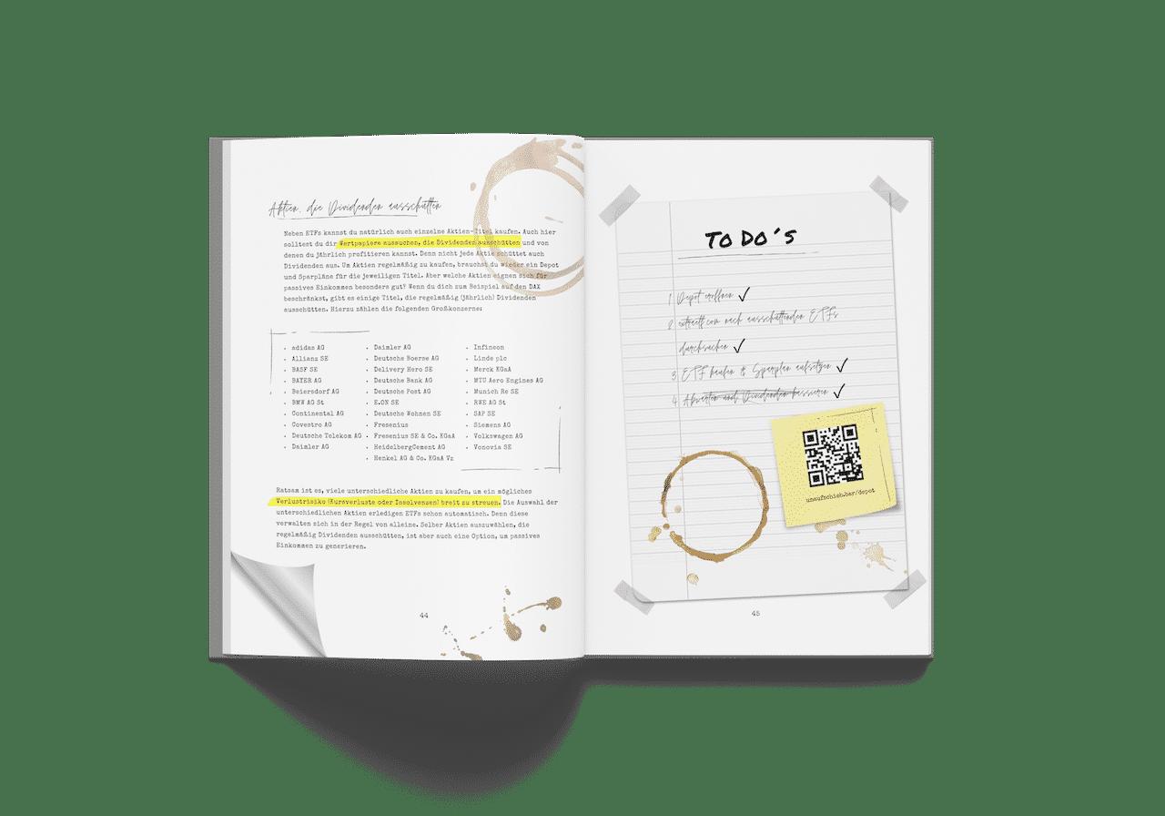 Passives Einkommen aufbauen Hardcover Buch To Dos
