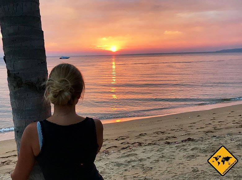 Pattaya Beach Sonnenuntergang