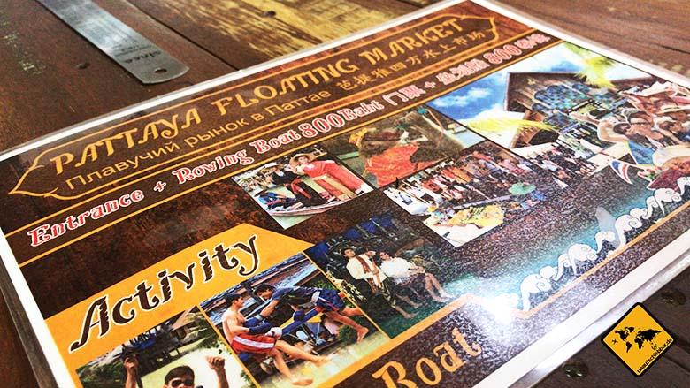 Pattaya Floating Market Aktivitäten