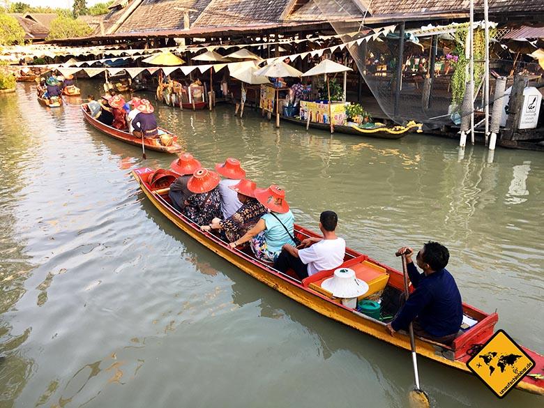 Pattaya Floating Market Schifffahrt