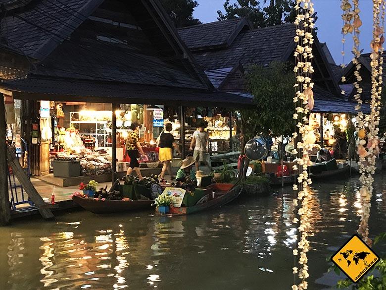 Pattaya Sehenswürdigkeiten Floating Market