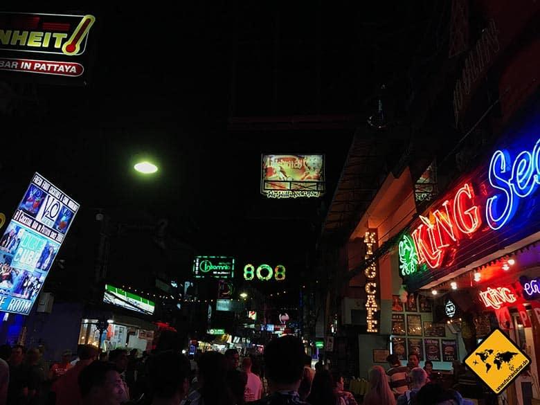 Pattaya Sehenswürdigkeiten Walking Street