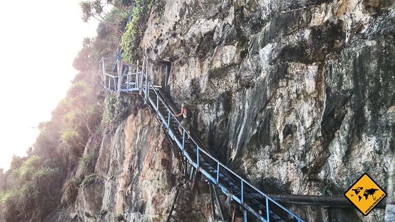 Peguyangan Nusa Penida Aufstieg