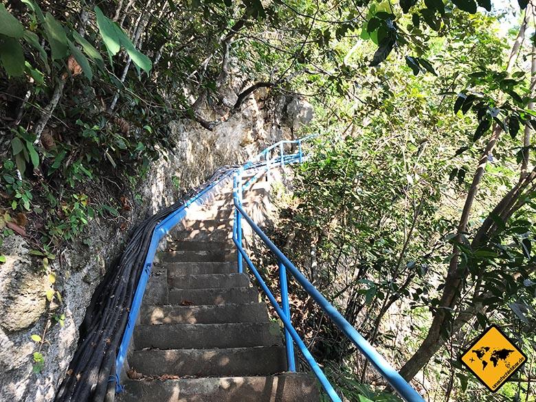 Peguyangan Waterfall Nusa Penida Wegbeginn