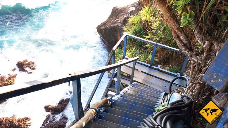 Peguyangan Waterfall Nusa Penida letzter Wegabschnitt