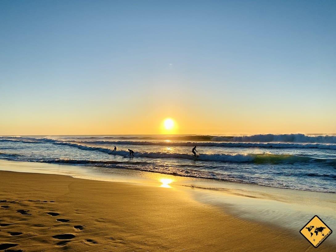 Piedra Playa Sonnenuntergang Fuerteventura Surferstrand