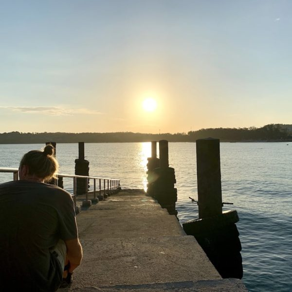 Pier Rawai Beach Sonnenuntergang