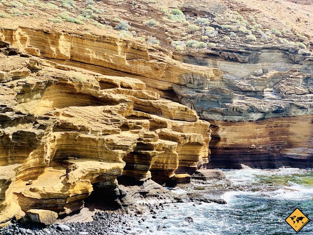 Playa Amarilla Felsen Teneriffa