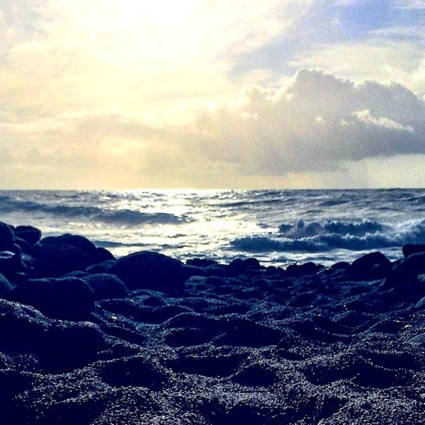 Blick vom Playa Montaña Bermeja im Timanfaya Nationalpark Lanzarote